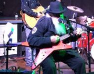 David Wade on stage with David Allan Coe