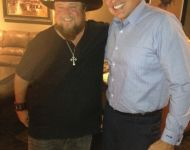 David Wade and Colt Ford in the studio